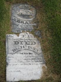 Old Headstone in Springville Cemetery
