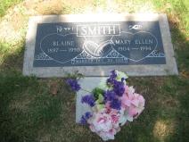 Great Grandpa Blaine and Mary Smith's headstone